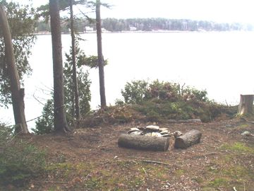 Looking from the fire pit across Gun Point Cove