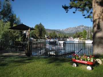Tahoe Keys house rental - Breathtaking Views - Dock/Deck with breathtaking views of Mt Tallac and Anchor Cove