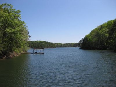 View of Lake Allatoona from the dock