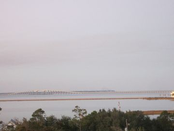 Dauphin Island bridge and airport landing strip - view from 2nd bedroom