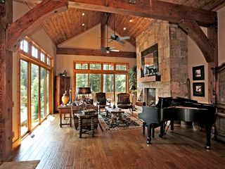 Sundance cabin photo - Hand scraped hard wood floors. Great natural light.