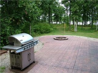 Castle Rock Lake house photo - Brick patio, campfire pit