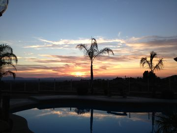 Temecula villa rental - Enjoy Amazing Sunsets with a glass of wine! A great way to end your day.