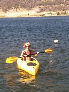 Kayak rentals available on Hebgen Lake.