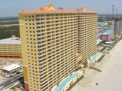 Aerial View of Calypso - Beachside