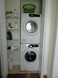 2nd Floor Laundry outside of Bunk Bed Room and convenient to Masterbedroom!