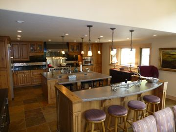 Kitchen with both Islands from Great Room
