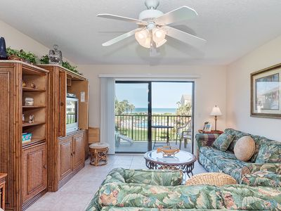 Enjoy our beautiful living room with ocean views