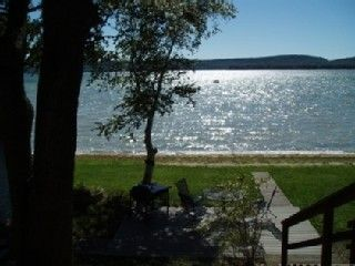 Honor cottage photo - Big Platte Lake from the upper deck