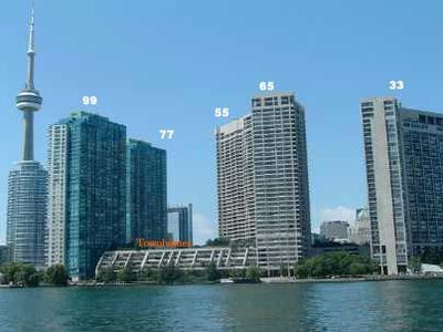 View from Toronto Island of 33 Harbour Square