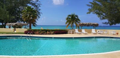 The heated pool and ocean are just steps away!