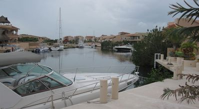 Quiet, peaceful location overlooking marina. Docking privileges included.