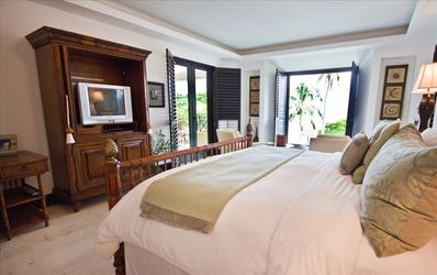 Master Bedroom with great ocean view and door to outside patio