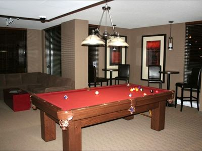 Games room available to our guests, billiards, large screen TV, lots of seating