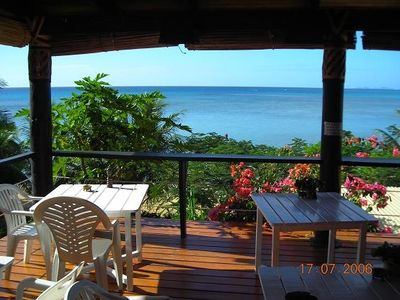 Taveuni cottage rental - View from the restaurant