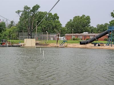 Kansas house rental - Diving Boards, Zip Lines, Rope Swing, and Water Slide. LOOK at pondarosainn.com