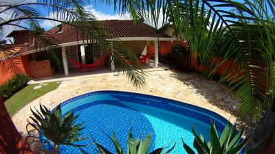 Ubatuba Itaguá beach w / pool 3 bathrooms air conditioning garage w / 4 cars