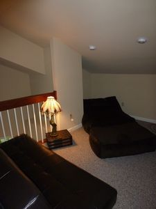 Upper loft with Full Futon & Bean Bag Bed (3)