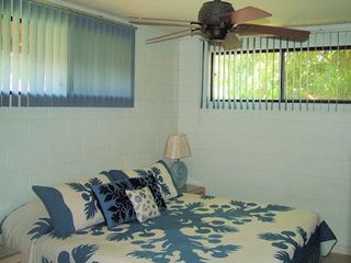 Kihei cottage photo - Bedroom w/king size bed & lots of closet space.