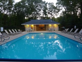 New Buffalo house photo - Neighborhood heated pool.