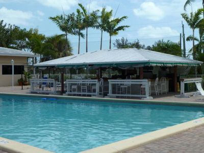 Pool & Tiki Bar. Music at the weekends