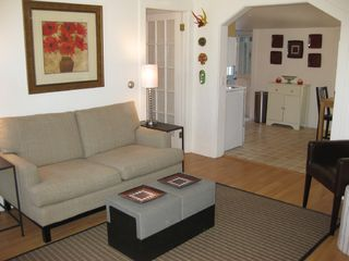Living room to Kitchen - Provincetown condo vacation rental photo