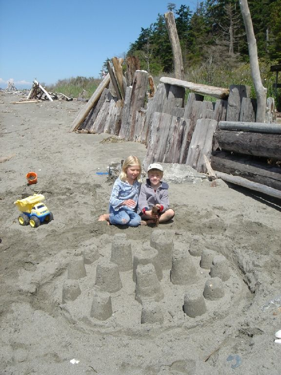 The perfect beach for building sandcastles!