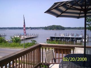 Colonial Beach cottage photo - View from the Front Deck!