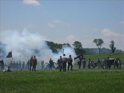 Battle from the 2009 Gettysburg Reenactment, on the farm across the street!