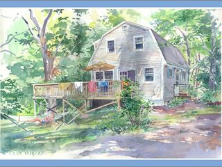 West Tisbury house photo - Watercolor Painting by Houseguest Sandy Rabinowitz