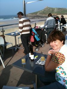 Drinks and Tapas at Porthmeor Beach Cafe.