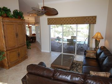 Beautiful Living Room with Tommy Bahama Entertainement Center