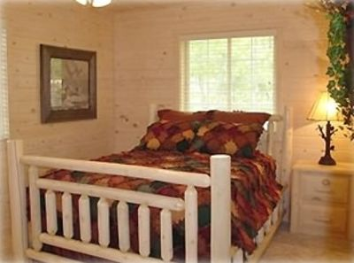 Master Bedroom with Log Bedroom Set