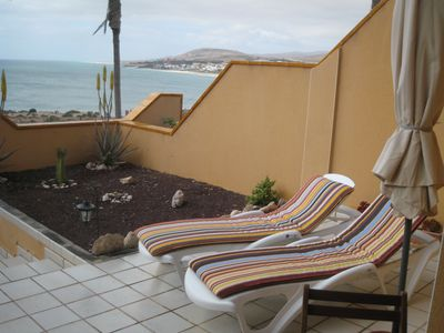 In Costa Calma with fantastic sea views and direct access to the beach !!