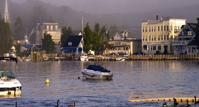 Wolfeboro Harbor, Downtown, Free Public Docks, Shops, and  Outdoor Parks