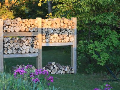 Wood Pile Gate to Private Back Yard