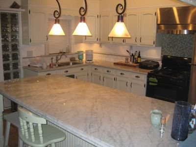 White Carrara Marble from Italy in the kitchen and bath