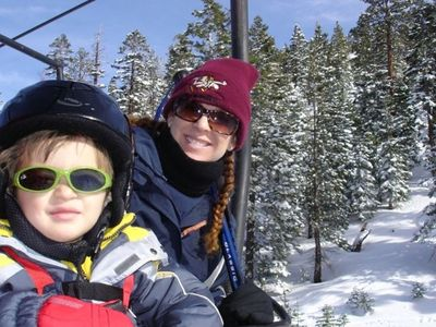 On the ski lifts at Heavenly