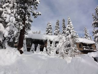 Mammoth Lakes condo photo - 55 feet of snow created this winter wonderland around our condo.