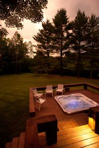 Deck & Hot Tub at Sunset