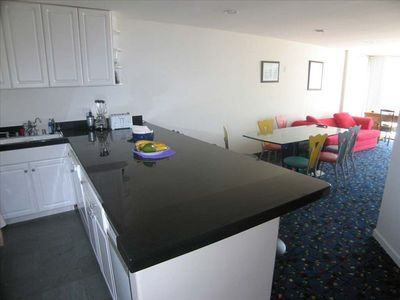 Beach View from Kitchen, Dining, Living & Master Bed! Large Breakfast Bar!