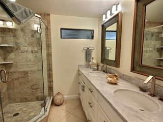 Kahana condo photo - Main Level Bathroom: double sinks, marble countertops, custom porcelain shower.
