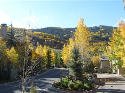 Beaver Creek townhome rental - View from Dining room window up to Beaver Creek Slopes