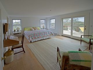 Tom Nevers house photo - Master bedroom and large deck