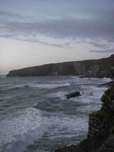 Treknow house rental - Raging sea at Trebarwith