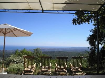 VENCE 'OLD PROVENCAL VILLAGE' VERY CONFORTABLE HOUSE, LOVELY GARDEN++ IMPRESSIVE PANORAMIC SEAVIEW++ SWIMMING POOL, VERY PEACEFUL, - MAS D'AZUR: MAS GARRIGUE