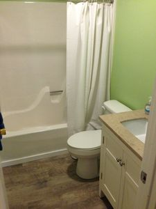 Newly remodeled lower level bathroom