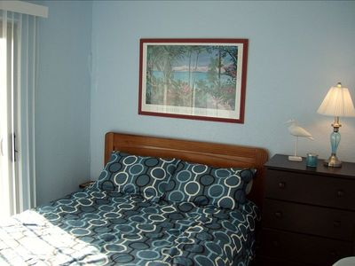 Master Bedroom * Queen Bed * Balconey * View of Gulf * 1/2 bath
