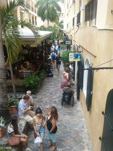 More people enjoying downtown Charlotte Amalie