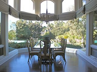 Rancho Santa Fe estate photo - View from the breakfast nook across the pool to the Tennis and Ocean.